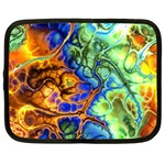 Abstract Fractal Batik Art Green Blue Brown Netbook Case (XXL)