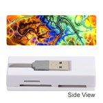 Abstract Fractal Batik Art Green Blue Brown Memory Card Reader (Stick)