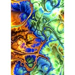 Abstract Fractal Batik Art Green Blue Brown I Love You 3D Greeting Card (7x5) Inside