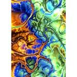 Abstract Fractal Batik Art Green Blue Brown BOY 3D Greeting Card (7x5) Inside