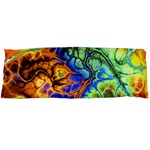 Abstract Fractal Batik Art Green Blue Brown Body Pillow Case (Dakimakura)