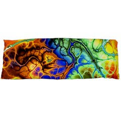 Abstract Fractal Batik Art Green Blue Brown Body Pillow Case Dakimakura (two Sides) by EDDArt