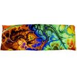 Abstract Fractal Batik Art Green Blue Brown Body Pillow Case Dakimakura (Two Sides) Back