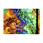 Abstract Fractal Batik Art Green Blue Brown Apple iPad Mini Flip Case