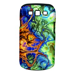 Abstract Fractal Batik Art Green Blue Brown Samsung Galaxy S Iii Classic Hardshell Case (pc+silicone) by EDDArt