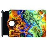 Abstract Fractal Batik Art Green Blue Brown Apple iPad 3/4 Flip 360 Case