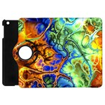 Abstract Fractal Batik Art Green Blue Brown Apple iPad Mini Flip 360 Case
