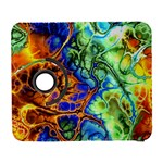 Abstract Fractal Batik Art Green Blue Brown Samsung Galaxy S  III Flip 360 Case
