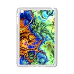 Abstract Fractal Batik Art Green Blue Brown iPad Mini 2 Enamel Coated Cases