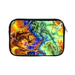 Abstract Fractal Batik Art Green Blue Brown Apple iPad Mini Zipper Cases