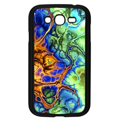 Abstract Fractal Batik Art Green Blue Brown Samsung Galaxy Grand Duos I9082 Case (black) by EDDArt