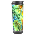 Abstract Fractal Batik Art Green Blue Brown Travel Tumbler Right