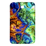 Abstract Fractal Batik Art Green Blue Brown Samsung Galaxy Tab 3 (7 ) P3200 Hardshell Case