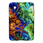 Abstract Fractal Batik Art Green Blue Brown Samsung Galaxy Tab 2 (7 ) P3100 Hardshell Case