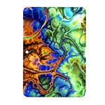 Abstract Fractal Batik Art Green Blue Brown Samsung Galaxy Tab 2 (10.1 ) P5100 Hardshell Case
