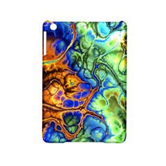 Abstract Fractal Batik Art Green Blue Brown Ipad Mini 2 Hardshell Cases by EDDArt