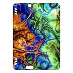 Abstract Fractal Batik Art Green Blue Brown Kindle Fire HDX Hardshell Case