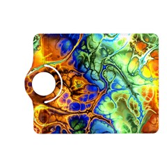 Abstract Fractal Batik Art Green Blue Brown Kindle Fire Hd (2013) Flip 360 Case by EDDArt
