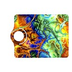 Abstract Fractal Batik Art Green Blue Brown Kindle Fire HD (2013) Flip 360 Case