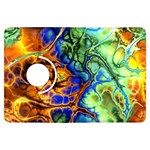 Abstract Fractal Batik Art Green Blue Brown Kindle Fire HDX Flip 360 Case