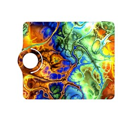 Abstract Fractal Batik Art Green Blue Brown Kindle Fire Hdx 8 9  Flip 360 Case by EDDArt
