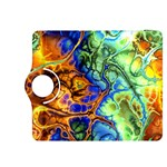Abstract Fractal Batik Art Green Blue Brown Kindle Fire HDX 8.9  Flip 360 Case