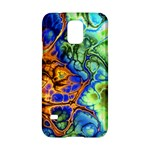 Abstract Fractal Batik Art Green Blue Brown Samsung Galaxy S5 Hardshell Case