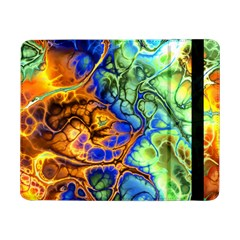 Abstract Fractal Batik Art Green Blue Brown Samsung Galaxy Tab Pro 8 4  Flip Case by EDDArt
