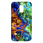 Abstract Fractal Batik Art Green Blue Brown Galaxy S5 Mini