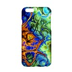 Abstract Fractal Batik Art Green Blue Brown Apple iPhone 6/6S Hardshell Case