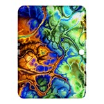 Abstract Fractal Batik Art Green Blue Brown Samsung Galaxy Tab 4 (10.1 ) Hardshell Case