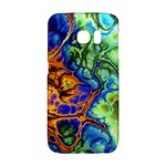 Abstract Fractal Batik Art Green Blue Brown Galaxy S6 Edge