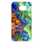 Abstract Fractal Batik Art Green Blue Brown Galaxy S6
