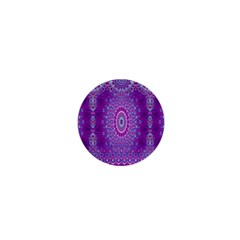 India Ornaments Mandala Pillar Blue Violet 1  Mini Magnets by EDDArt