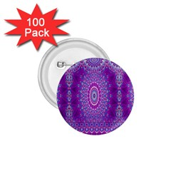 India Ornaments Mandala Pillar Blue Violet 1 75  Buttons (100 Pack)  by EDDArt