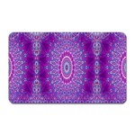 India Ornaments Mandala Pillar Blue Violet Magnet (Rectangular) Front