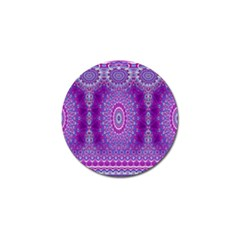 India Ornaments Mandala Pillar Blue Violet Golf Ball Marker by EDDArt