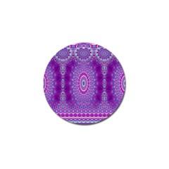 India Ornaments Mandala Pillar Blue Violet Golf Ball Marker (10 Pack) by EDDArt