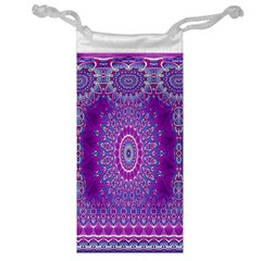 India Ornaments Mandala Pillar Blue Violet Jewelry Bags