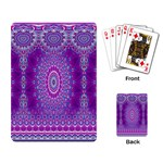 India Ornaments Mandala Pillar Blue Violet Playing Card Back