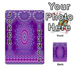 India Ornaments Mandala Pillar Blue Violet Playing Cards 54 Designs  Front - Joker1