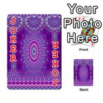 India Ornaments Mandala Pillar Blue Violet Playing Cards 54 Designs  Front - Joker2