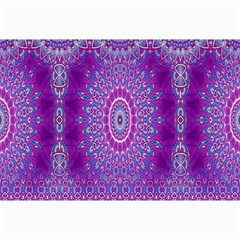 India Ornaments Mandala Pillar Blue Violet Collage Prints