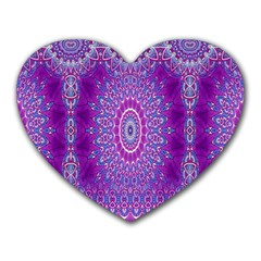 India Ornaments Mandala Pillar Blue Violet Heart Mousepads by EDDArt