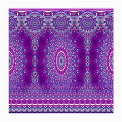India Ornaments Mandala Pillar Blue Violet Medium Glasses Cloth by EDDArt