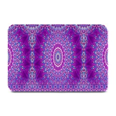 India Ornaments Mandala Pillar Blue Violet Plate Mats by EDDArt