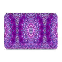 India Ornaments Mandala Pillar Blue Violet Plate Mats