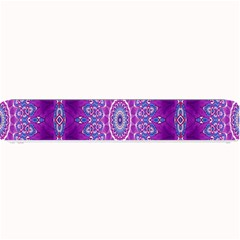 India Ornaments Mandala Pillar Blue Violet Small Bar Mats by EDDArt