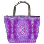 India Ornaments Mandala Pillar Blue Violet Bucket Bags Front