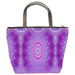 India Ornaments Mandala Pillar Blue Violet Bucket Bags Back
